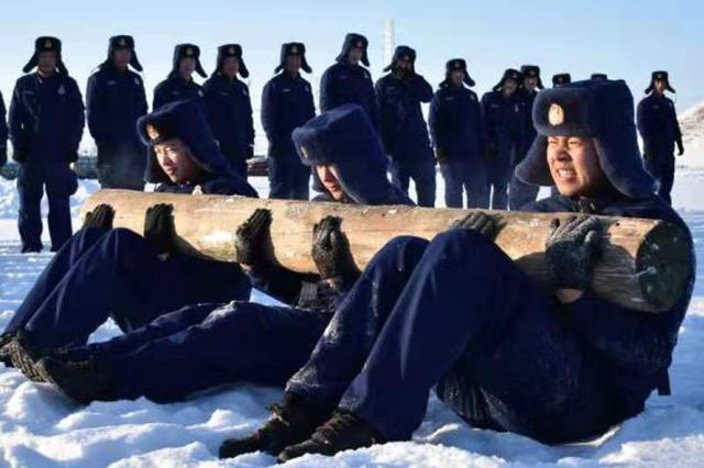 内蒙古大兴安岭森林消防支队二大队冬季大练兵