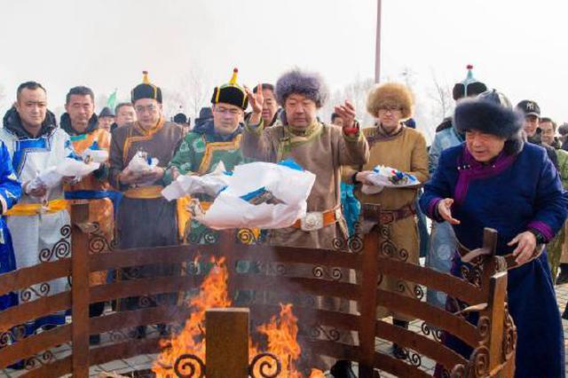 沿袭近千年 蒙古族小年祭灶在内蒙古举行