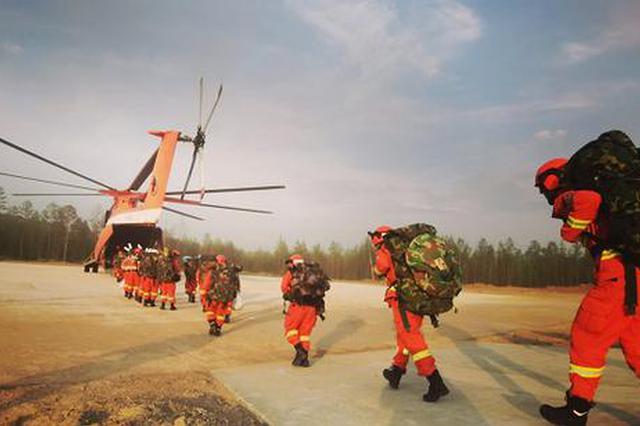 内蒙古大兴安岭北部原始林区突发森林火灾赤峰支队紧急扑救