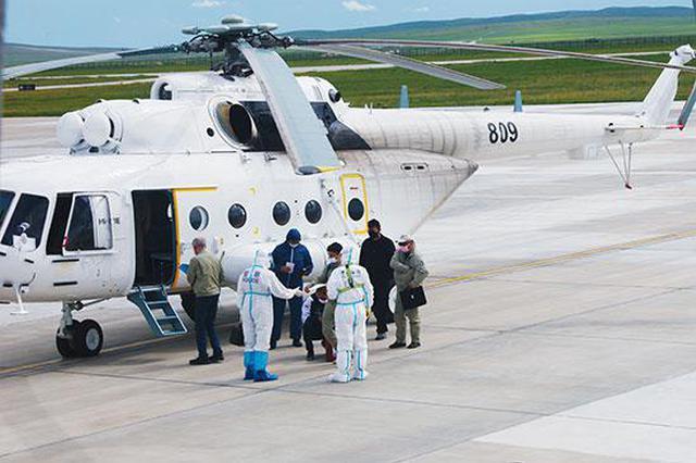 满洲里边检站完成MI-171型直升机入出境边防检查工作