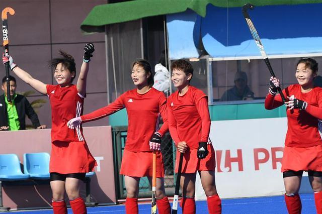 曲棍球——全国女子锦标赛:内蒙古队胜北京队