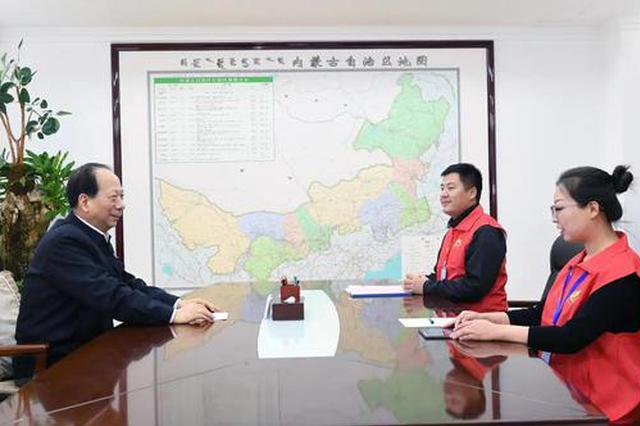 石泰峰布小林参加第七次全国人口普查现场登记