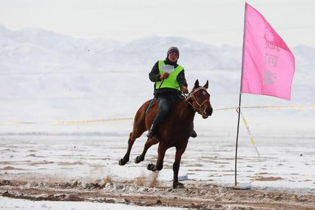 内蒙古莫尼山赛马比赛在巴彦淖尔市开赛