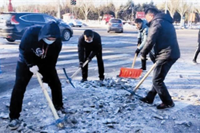 """通辽市伤势早:冰天雪地里 这些老师成了""""开路先锋"""""""