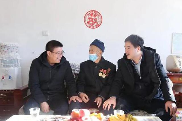 走访慰问送温暖刘志平率队开展春节走访慰问活动