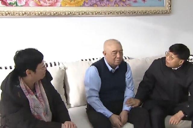 春节慰问 |刘剑夕一行看望慰问盟级退休的老同志