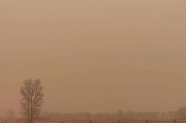 内蒙古出现近10年最强沙尘暴 局地能见度不足200米