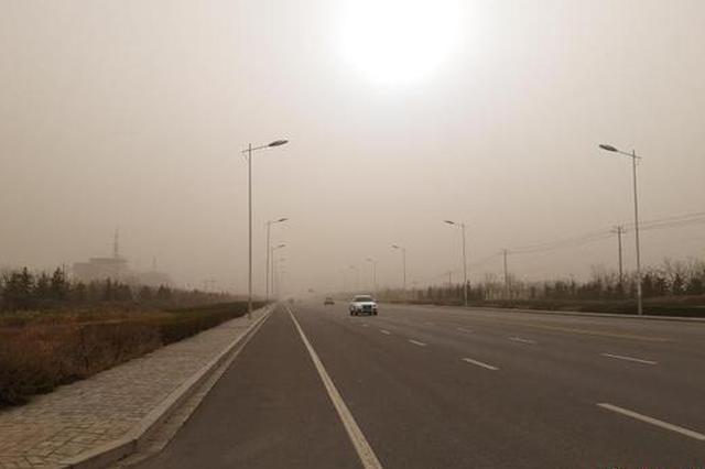 沙尘暴第三次袭击内蒙古 呼和浩特进出港多架次航班被迫取消