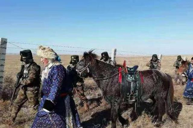 中蒙边境草原深处的牧民防火巡逻队