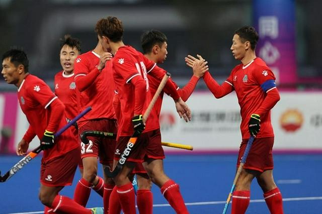 全运会-曲棍球男子小组赛:内蒙古队胜陕西队