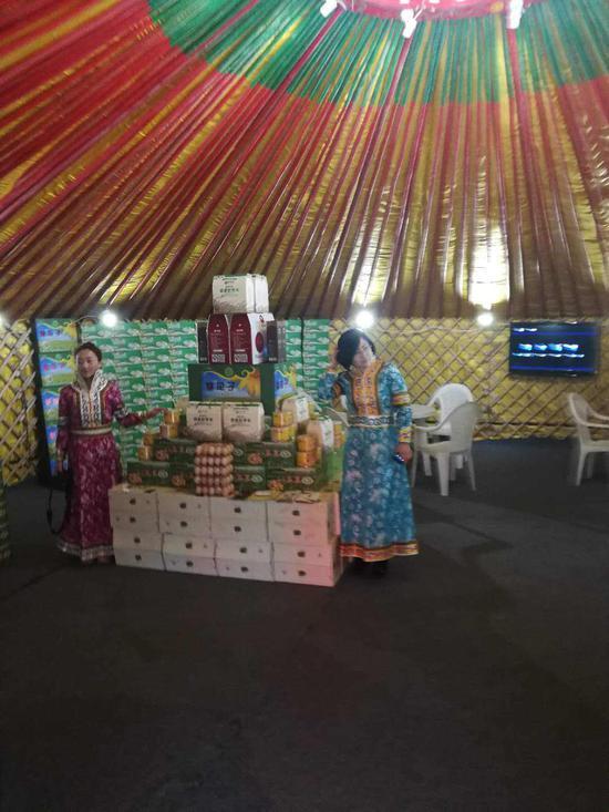 富有民族特色的蒙古包展厅