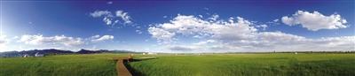 大青山前坡生态综合治理后景色如画(呼和塔拉草原)