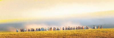 圖為呼和浩特草原景色。影像中國
