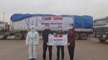 巴彦淖尔向蒙古国捐赠150吨精饲料
