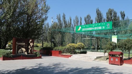 玉泉区劳动公园一角。