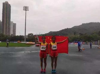 乌海姑娘第三届亚洲少年田径锦标赛夺冠!