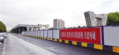 金海高架快速路正在施工中