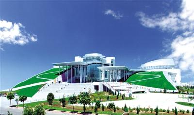 内蒙古博物院外景。