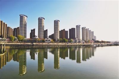 东河景观河道如意河音乐广场