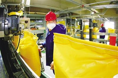 兴安盟博源化学有限公司生产现场。