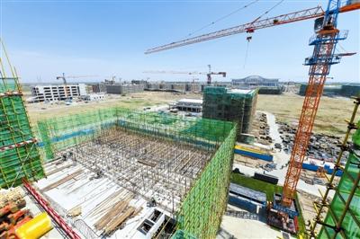 内蒙古民族大学校区综合改造项目紧张施工中