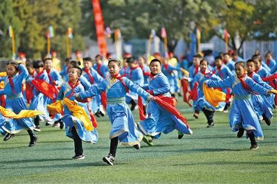 呼和浩特市民族实验学校的课间操——安代舞