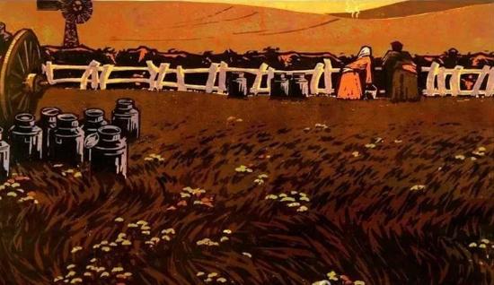 爱上内蒙古   唤起浓郁草原风情的科尔沁版画
