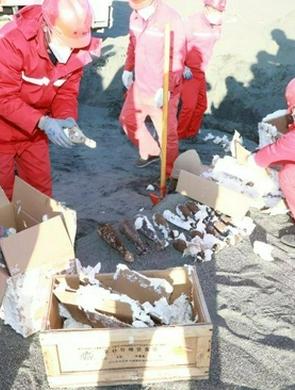 巴彦淖尔市警方销毁一批危爆物品