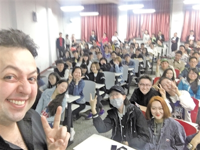 David与学生们