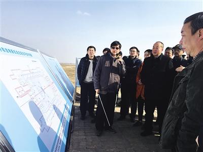 评审专家组在新机场拟建场址和林格尔县巧尔什营镇境内进行实地踏勘
