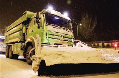 雪滚车出动
