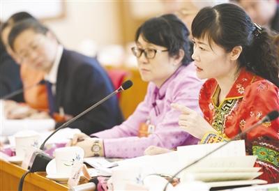 刘亚声代表在全体会议上积极发言。