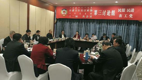 政协委员分组讨论政府工作报告