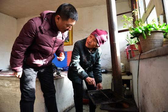 领取洁净煤的住户登记。