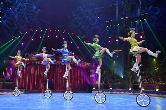 第42届蒙特卡洛国际马戏节现场。(图片由内蒙古民族艺术剧院提供)