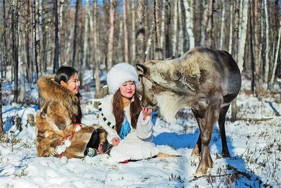 """这里的鄂温克族猎民,世代以驯鹿为伴,是中国""""最后的狩猎部落""""。"""