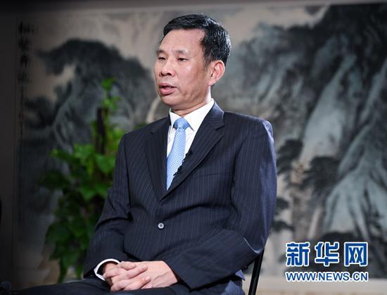 财政部部长刘昆接受记者采访(9月27日摄)。新华社记者 陈晔华 摄
