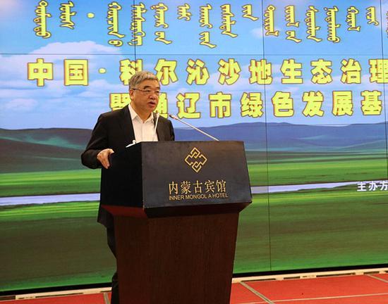 全国政协常委、民进中央副主席朱永新致辞。