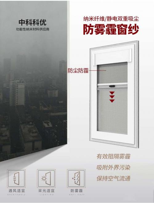 中科科优纳米防雾霾纱窗是什么?真的有用吗?