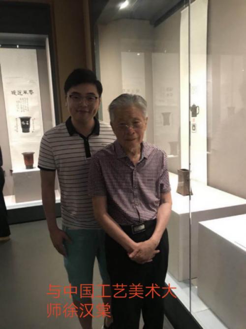 章昌仑与紫砂大师徐汉棠