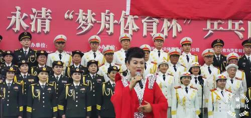 歌唱家侯丽娟献歌第七届兵乓百团大战国际邀请赛