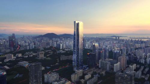 建成后的汉京金融中心效果图
