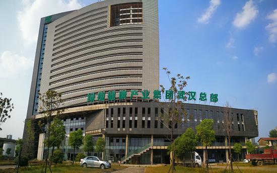 (位于武汉市武昌区的绿瘦武汉总部设计图,绿瘦集团计划将其打造为大健康产业基地)