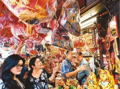 2017年,泰国曼谷唐人街洋溢浓浓年味。新华社记者 李芒茫摄