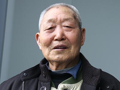 图为南京大屠杀幸存者马淑勤。图片来源:中国军网