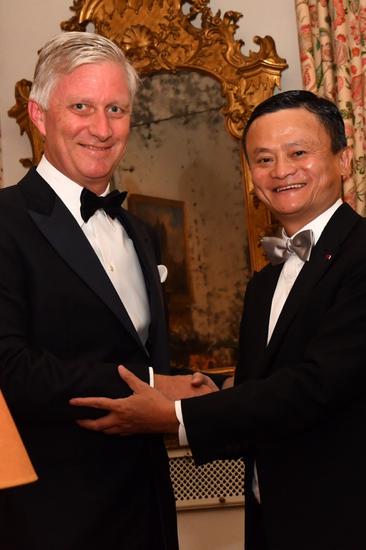 图/比利时国王菲利普为马云授勋