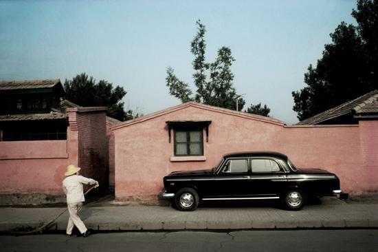 阎雷1985年,北京大使馆区三里屯。