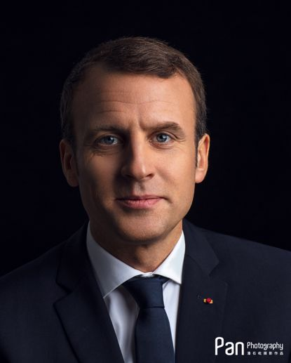 潘石屹拍摄的法国总统马克龙肖像