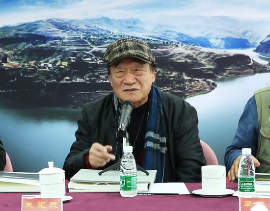 朱宪民在研讨会上发言。摄影:徐申
