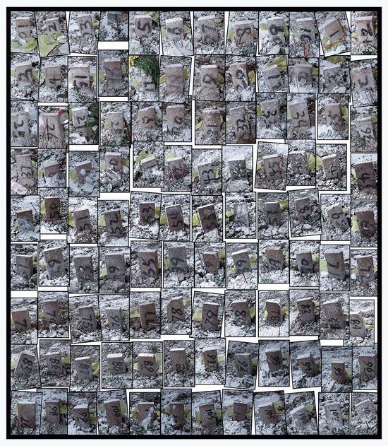 2008年,汶川地震中的108块墓碑